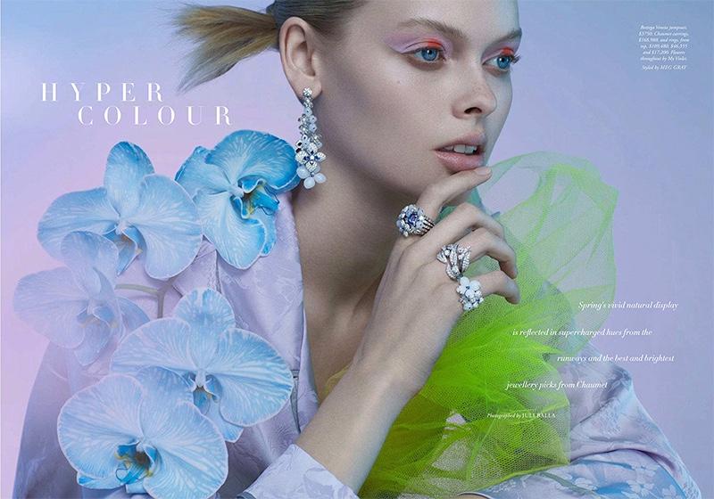 Holly Magson Models Sparkling Gems for Harper's Bazaar Australia