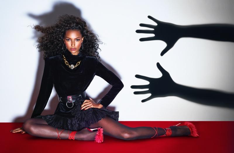 Jasmine Tookes Goes Glam in Harper's Bazaar Kazakhstan