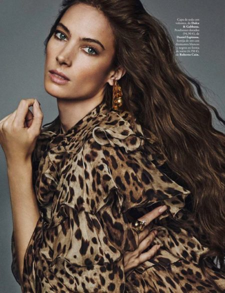 Jessica Miller Embraces Animal Print for ELLE Spain