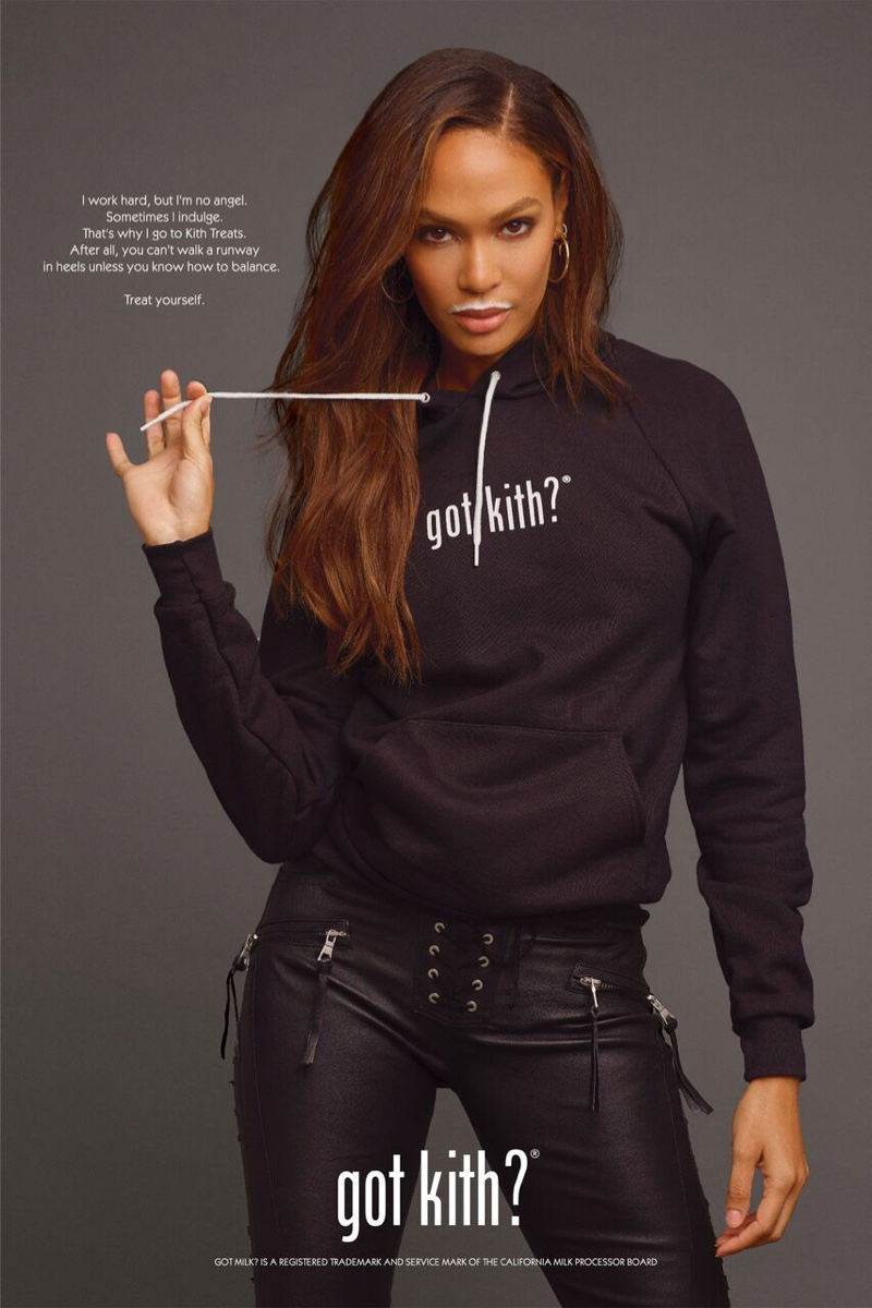Joan Smalls, Chrissy Teigen Channel 'Got Milk?' for Kith Treats Ads