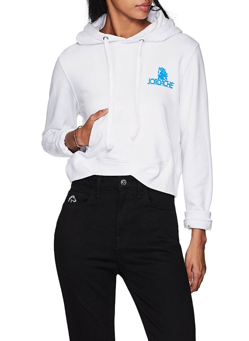 Jordache Logo Cotton Crop Hoodie $195
