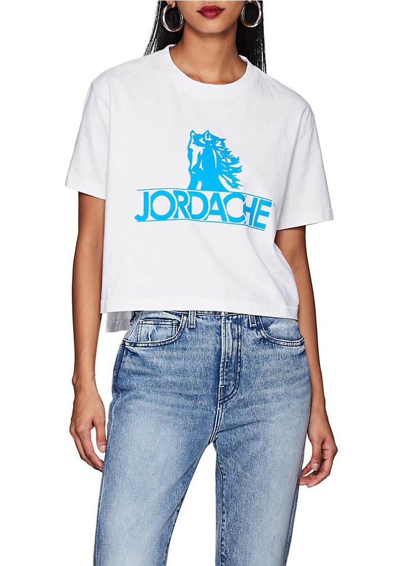 Jordache Logo Cotton Crop T-Shirt $85