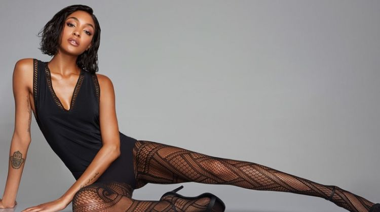 Jourdan Dunn appears in the Calzedonia fall-winter 2018 campaign