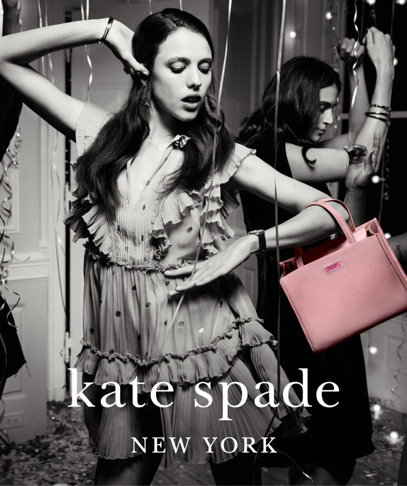 Margaret Qualley stars in Kate Spade Holiday 2018 campaign