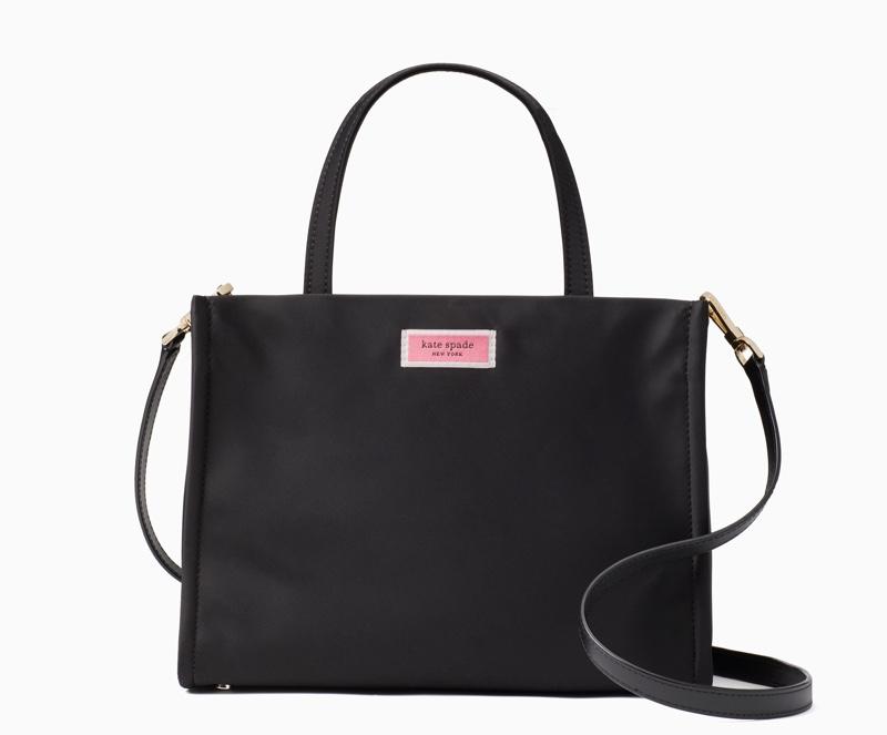 GET THE LOOK: Kate Spade Sam Medium Satchel Bag in Black $198