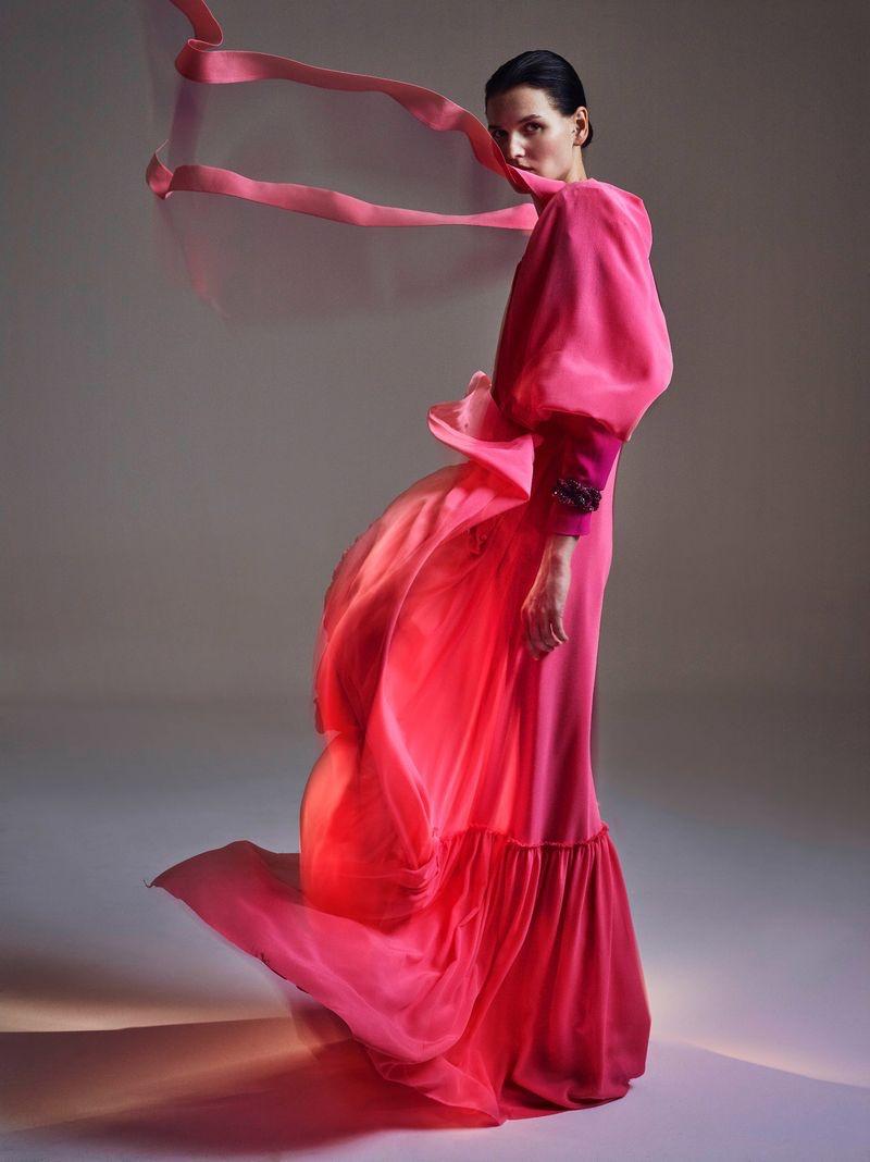 Katlin Aas Models Vibrant Fashion for Vogue Poland