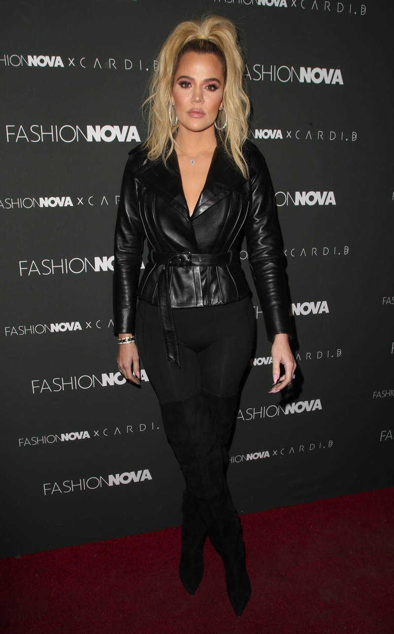 Khloe Kardashian attends the Fashion Nova x Cardi B Collaboration Launch