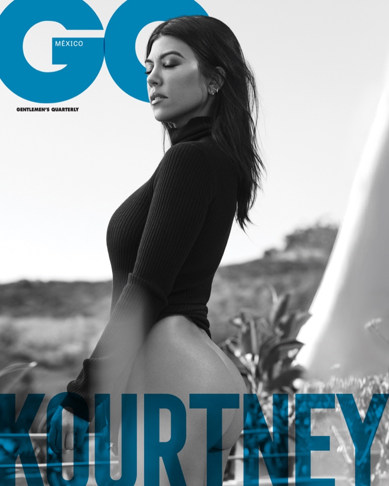 Social media star Kourtney Kardashian on GQ Mexico December-January 2018.2019 Cover