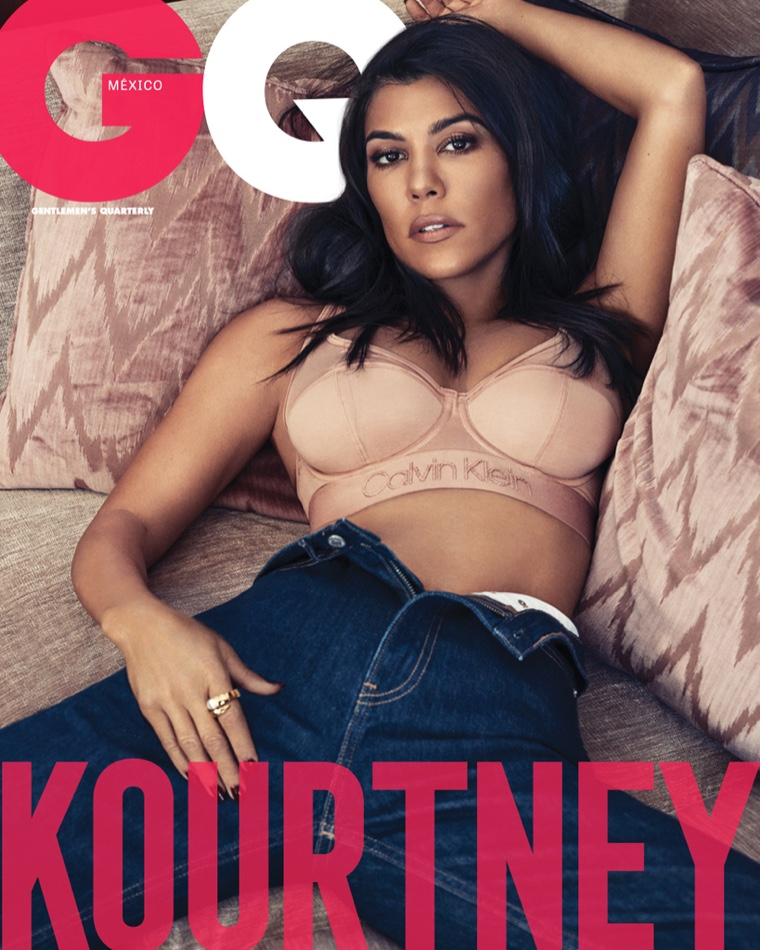 Kourtney Kardashian poses for Michael Schwartz on GQ Mexico December-January 2018.2019 Cover