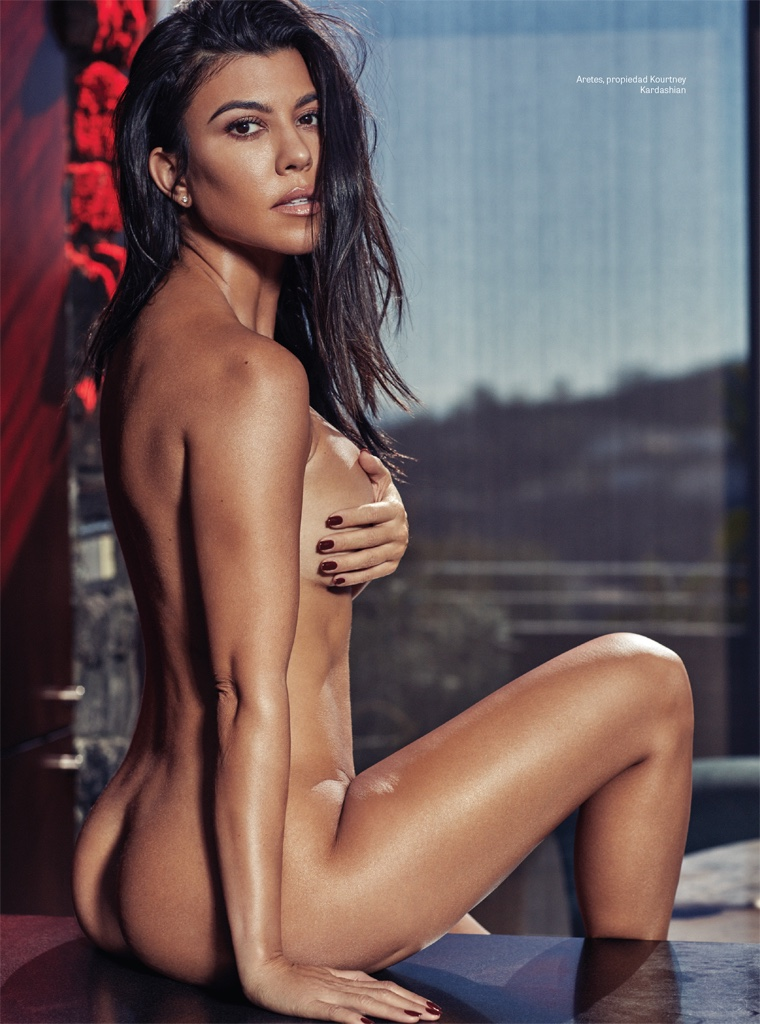 Flaunting her curves, Kourtney Kardashian goes naked in this shot