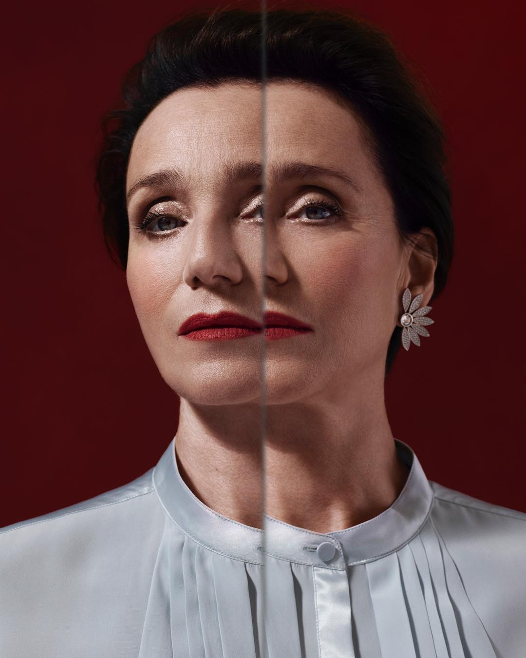 Portrait of Kristin Scott Thomas for Burberry