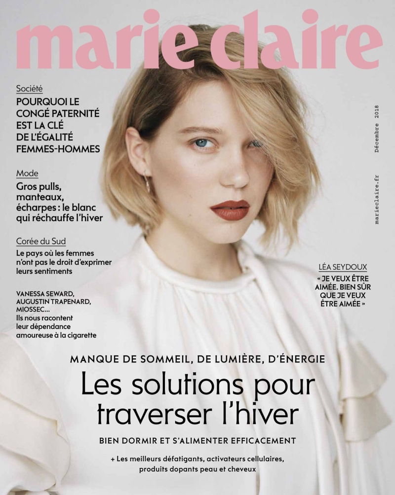 Lea Seydoux on Marie Claire France December 2018 Cover