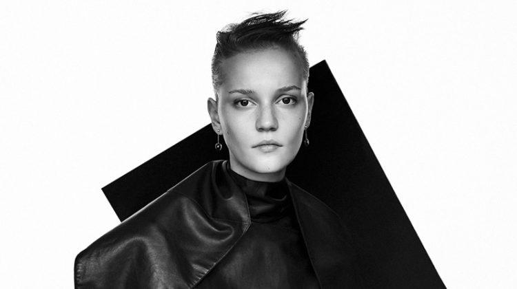 Lina Hoss Models Sleek Looks for Harper's Bazaar Netherlands