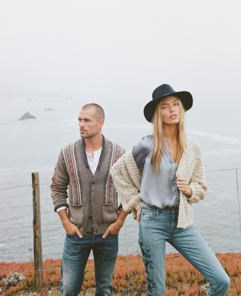 Zac Taylor and Martha Hunt appears in Lucky Brand Holiday 2018 campaign