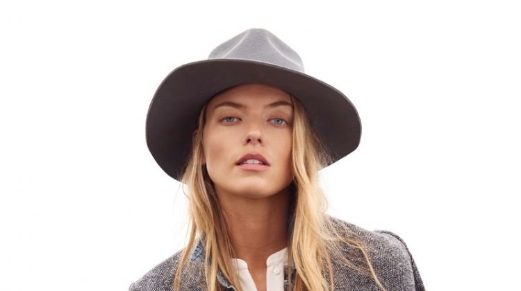 Martha Hunt layers up in Lucky Brand Holiday 2018 campaign