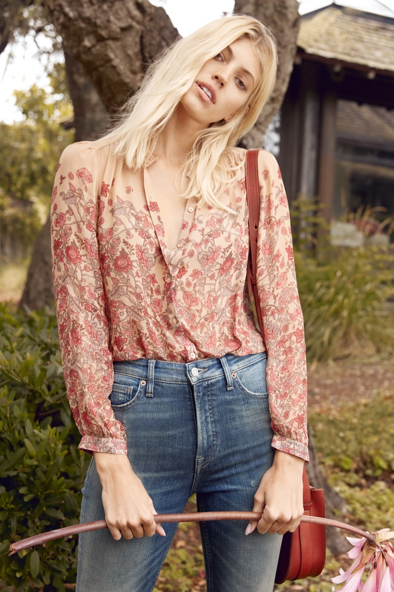 Model Devon Windsor fronts Lucky Brand Holiday 2018 campaign