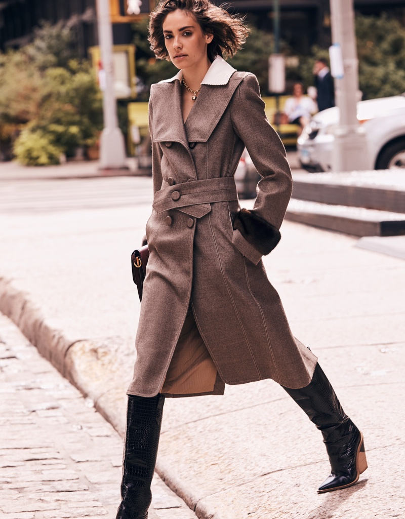 Maddie Dawn Wears Cool Outerwear for Grazia Italy