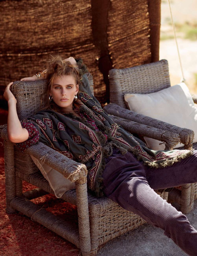 Madison Headrick Takes On Nomadic Styles for ELLE France
