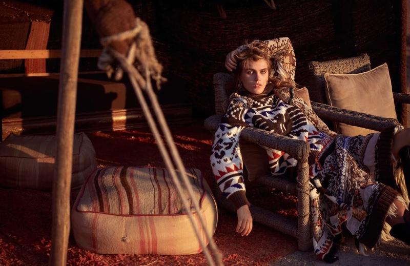 Madison Headrick Takes On Nomadic Styles for ELLE France