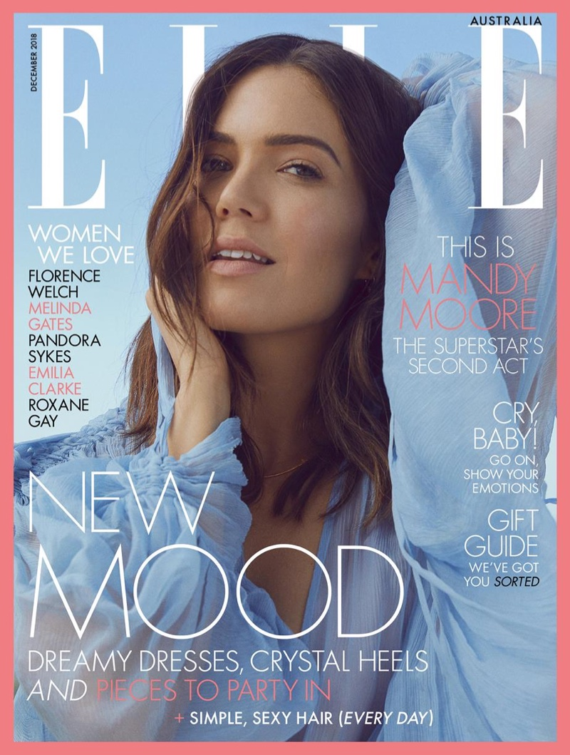 Mandy Moore on ELLE Australia December 2018 Cover