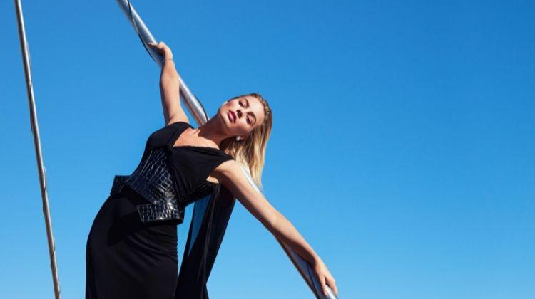 Actress Margot Robbie wears Tom Ford dress with Tiffany & Co. jewelry