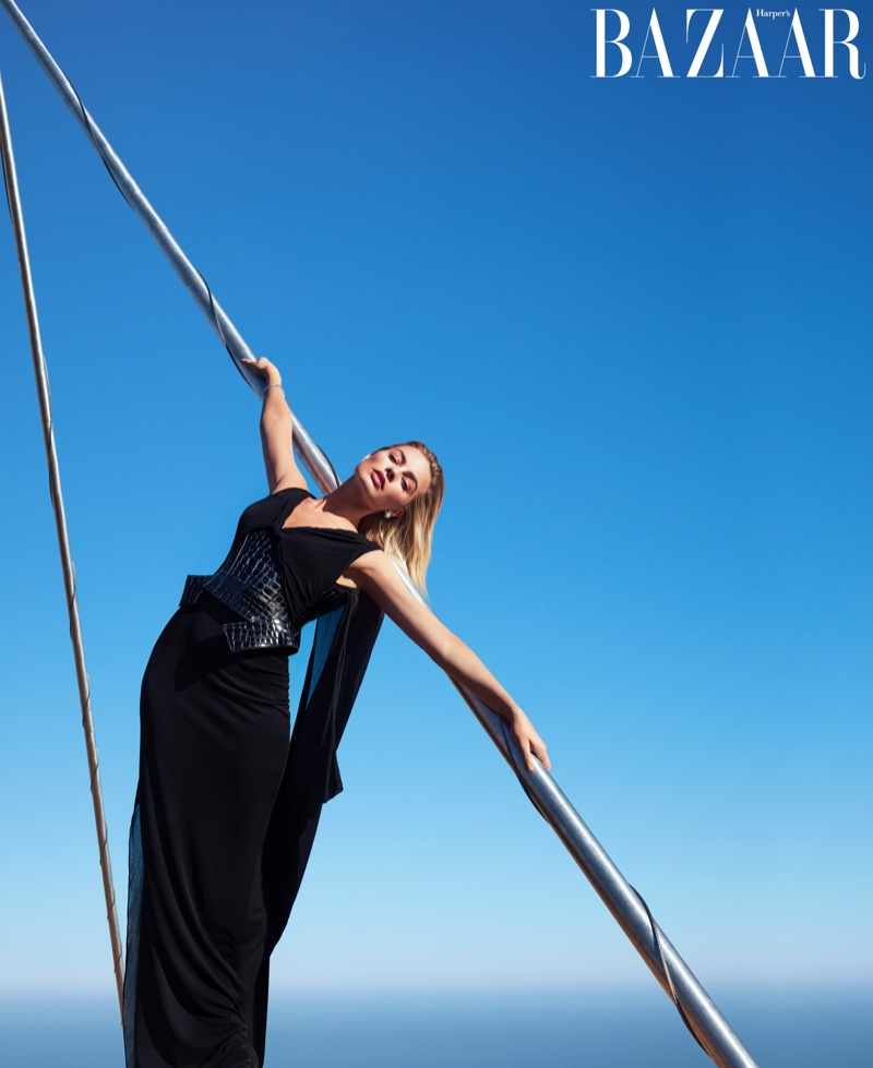 Margot Robbie Reaches New Heights for Harper's Bazaar