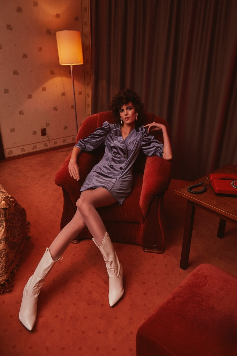 Maria Dębicka Channels 1980's Style for L'Officiel Ukraine