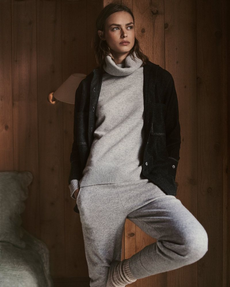 Birgit Kos layers up in Massimo Dutti Winter Horizons 2018 collection