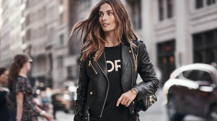 Andreea Diaconu stars in Michael Kors Access Runway Smartwatch campaign