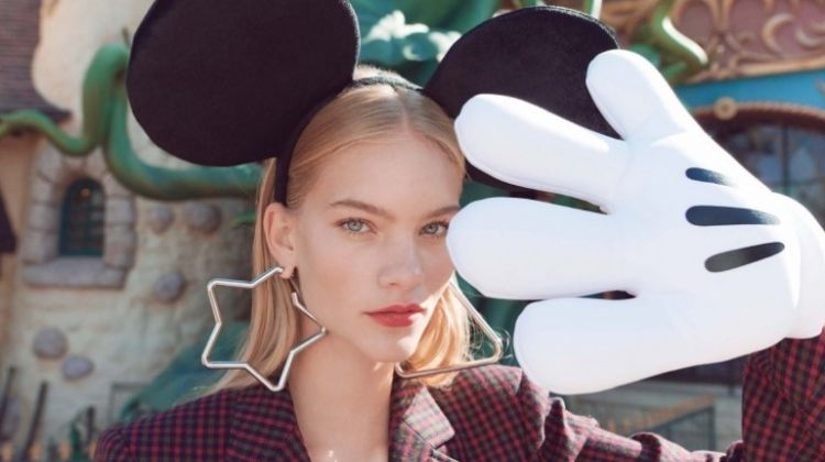 Michela Strate Takes a Stylish Trip to Disneyland for ELLE Denmark