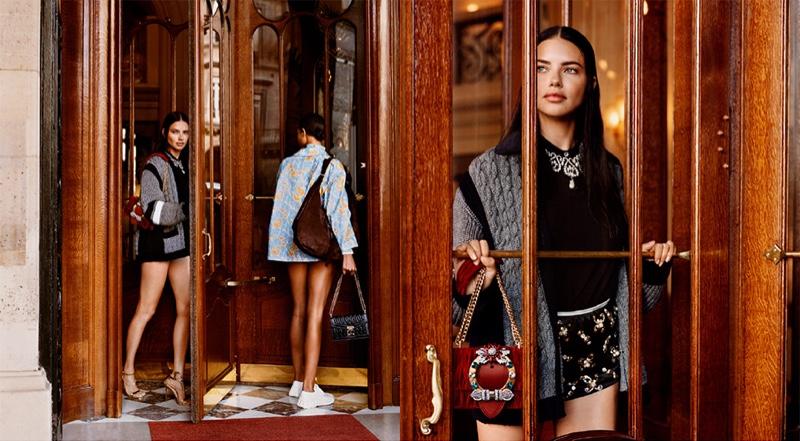 Adriana Lima stars in Miu Miu cruise 2019 campaign