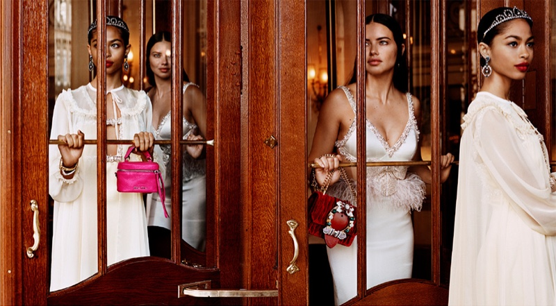 Zoe Thaets and Adriana Lima appear in Miu Miu cruise 2019 campaign