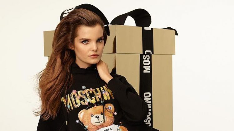 Michelle Van Bijnen stars in Moschino Teddy Holiday 2018 campaign