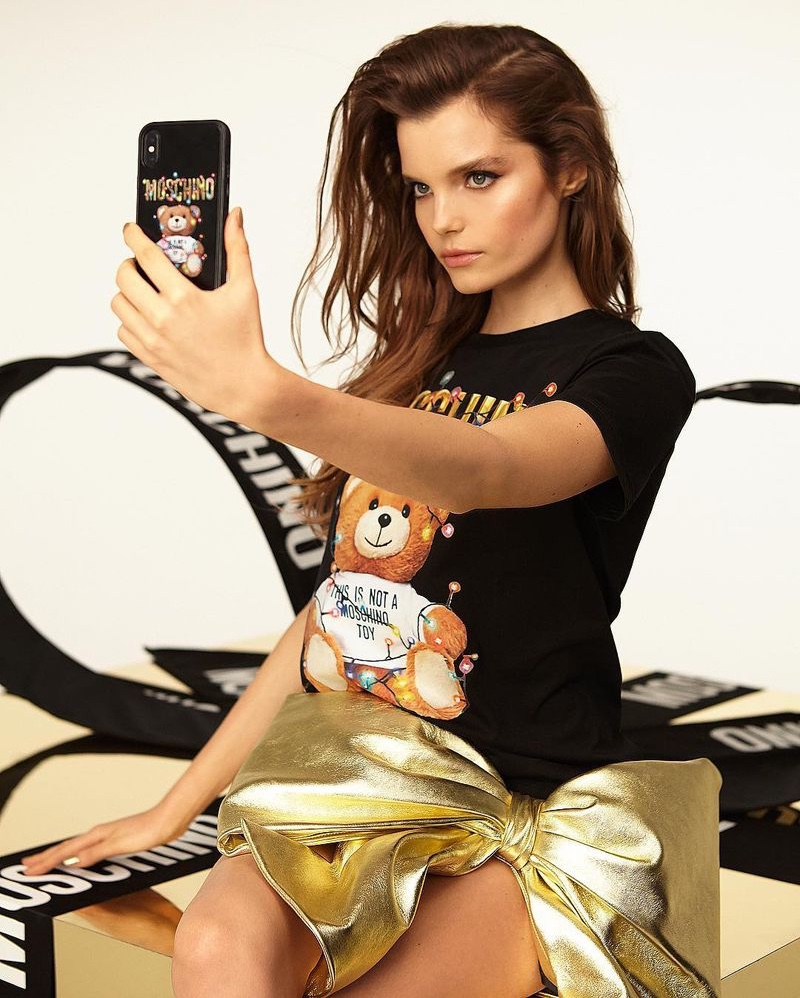 Michelle Van Bijnen takes a selfie for new Moschino campaign
