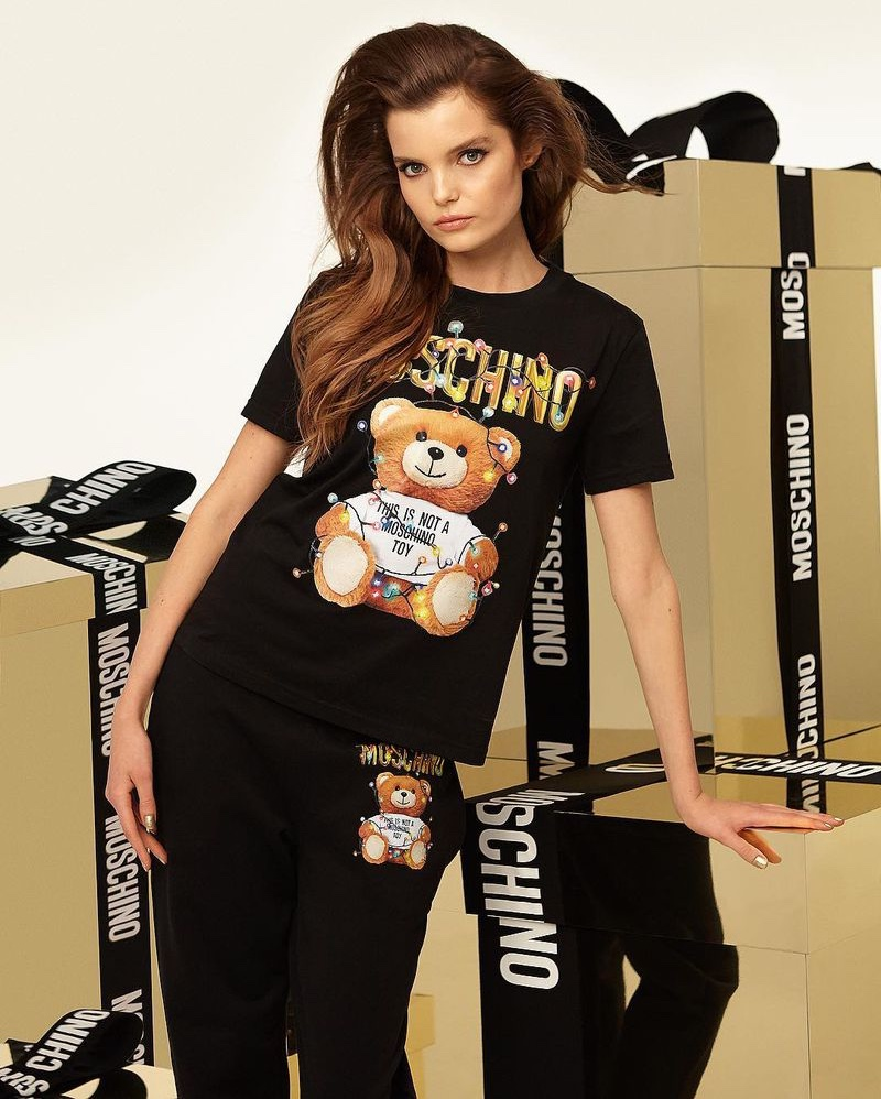 A photo from the Moschino Teddy Holiday 2018 campaign