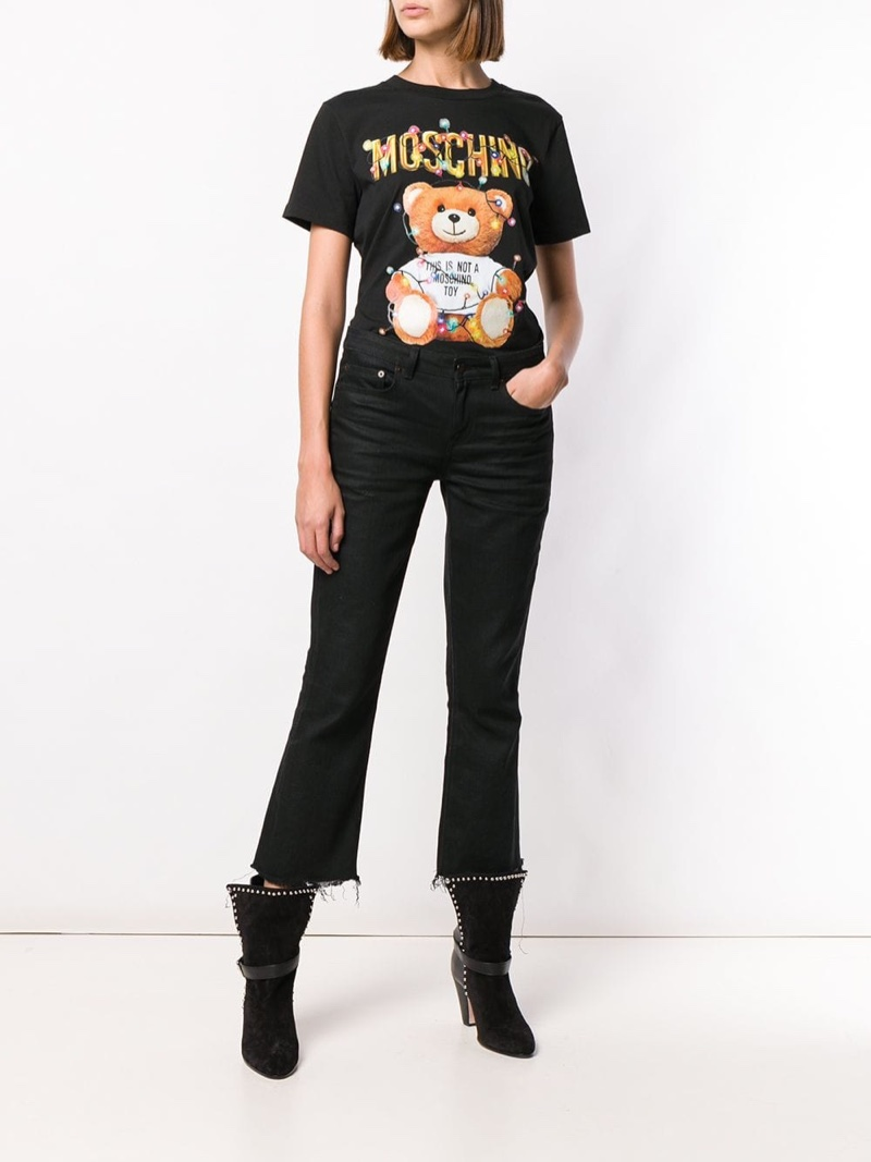 Moschino Toy Print T-Shirt in Black $295