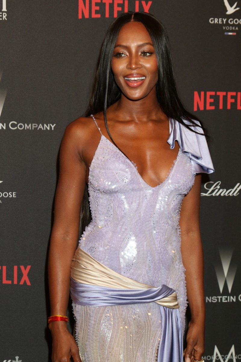 Naomi Campbell at the Weinstein and Netflix Golden Globes after party on January 8, 2017.