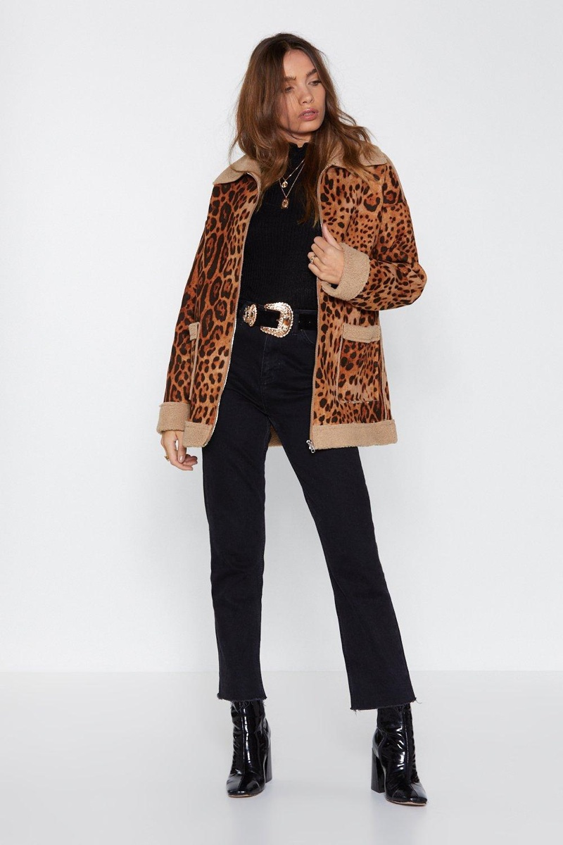 Nasty Gal Let's Roll Leopard Jacket $60 (previously $150)
