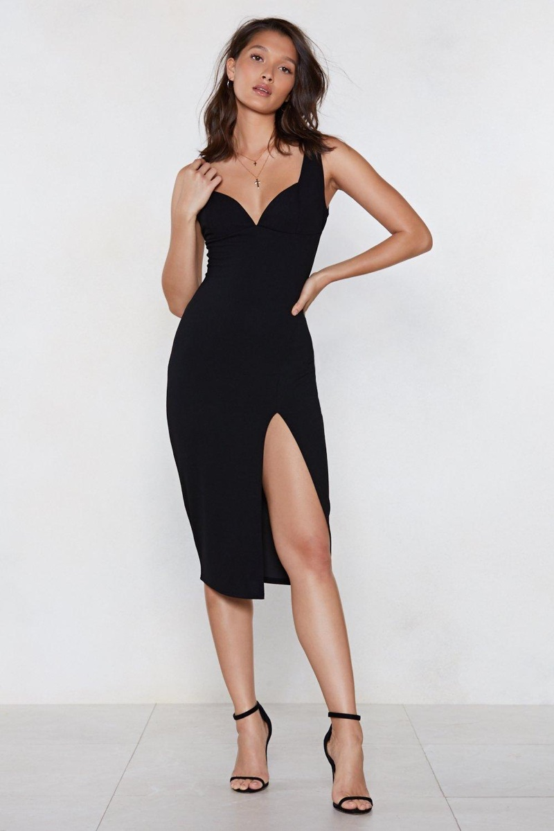 Nasty Gal Plunge Down Midi Dress $16 (previously $40)