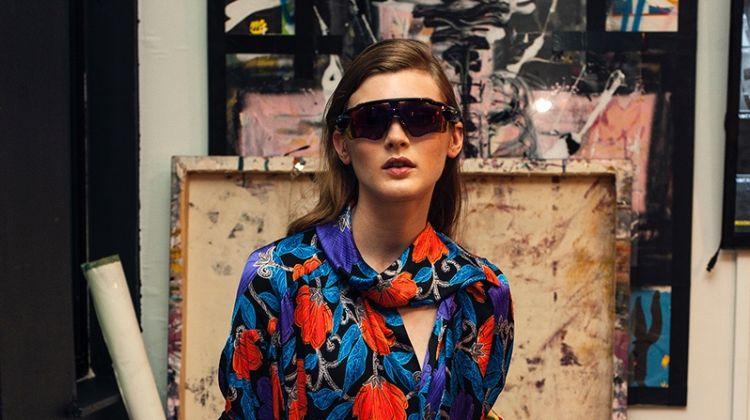 Nastya AbramovaModels Painterly Looks for Vogue Mexico