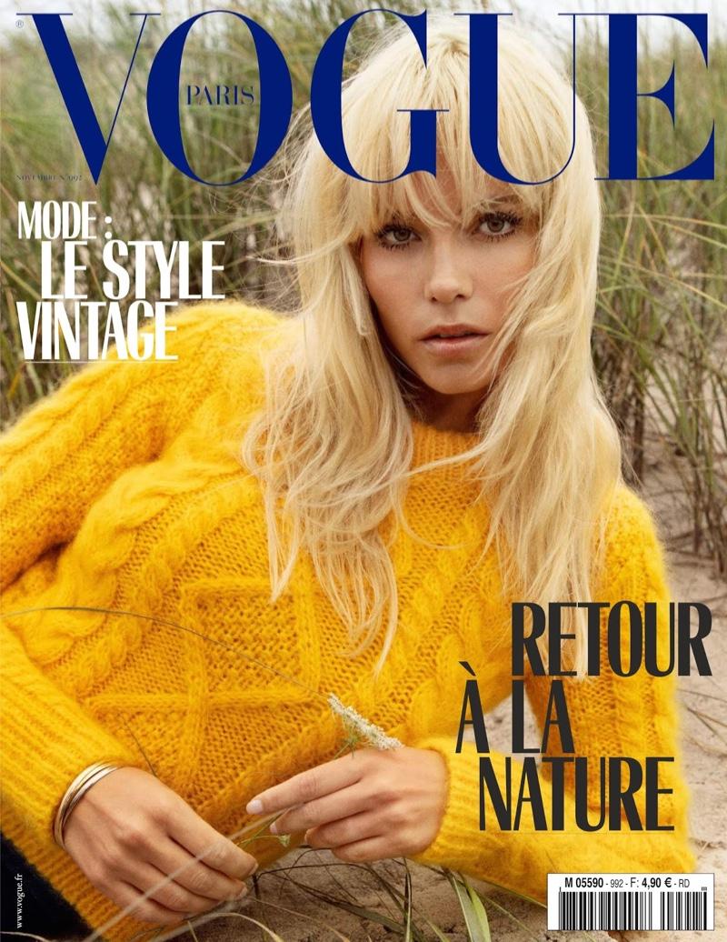 Natasha Poly Delivers Seventies Fashion in Vogue Paris