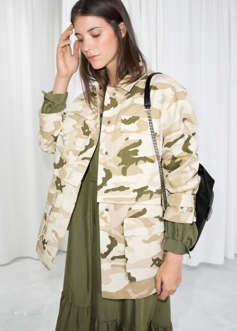 & Other Stories Camo Army Jacket $58 (previously $115)