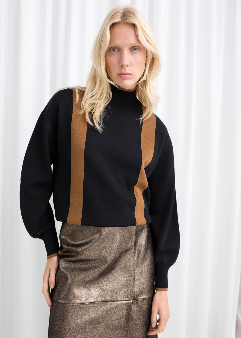 & Other Stories Duo Stripe Turtleneck $119