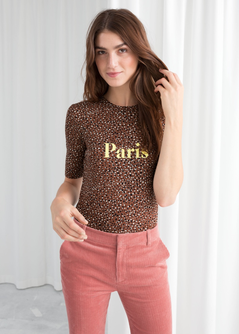 & Other Stories Graphic Animal Paris T-Shirt $29