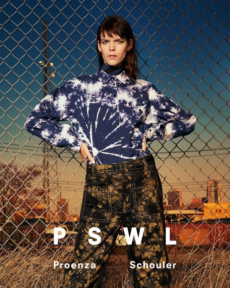 Meghan Collison fronts PSWL Proenza Schouler spring 2019 campaign
