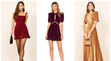 Best velvet party dresses