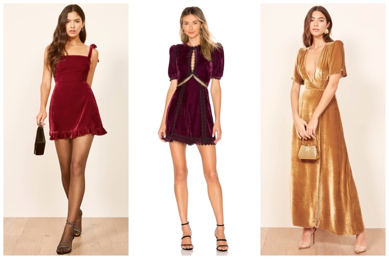 Get Ready for Party Season In A Velvet Dress