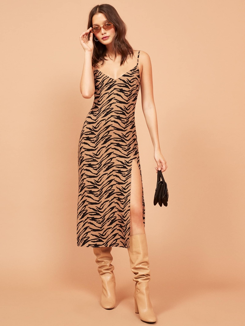 Reformation Crimni Dress in Rajah $128