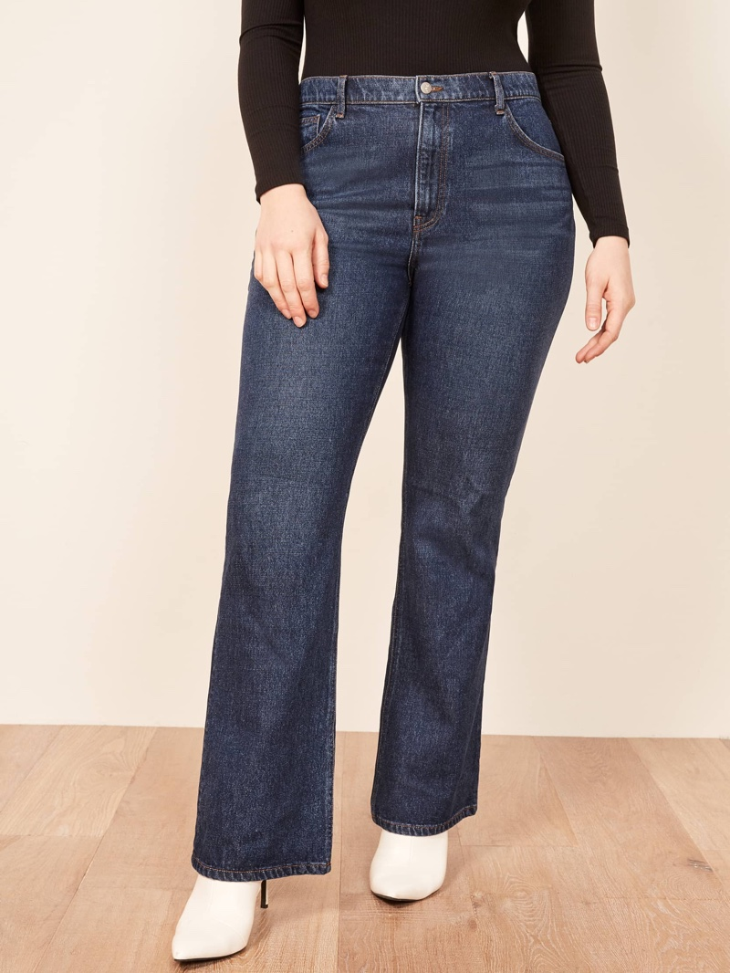 Reformation Plus Size Candice High Bootcut Jean in Jamaica $98