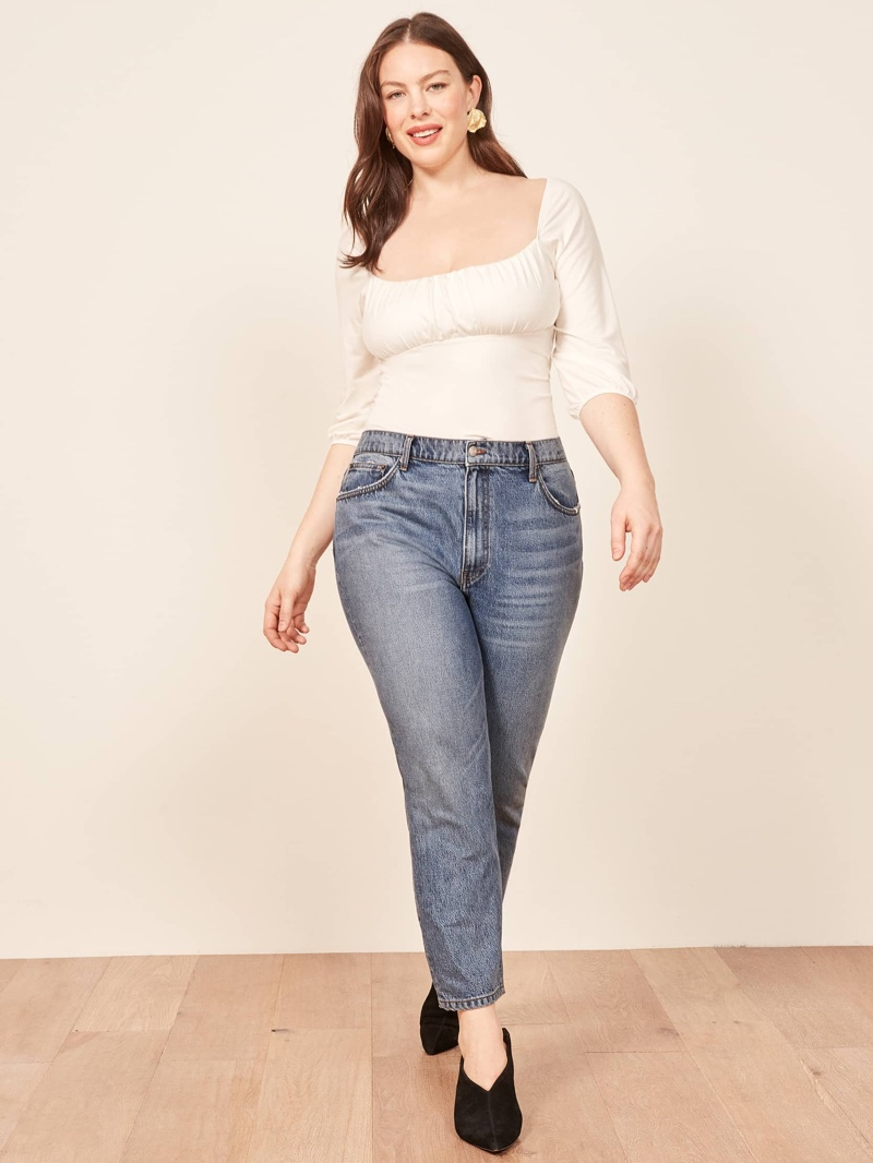 Reformation Plus Size Julia Crop High Cigarette Jean in Sydney $128